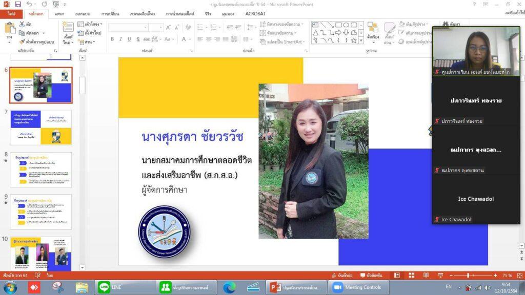 กิจกรรมปฐมนิเทศ กิจกรรมพบครูที่ปรึกษา และกิจกรรมสอบของผู้เรียนกลุ่มวันอังคาร ในวันอังคารที่ 12 ตุลาคม 2564 ผ่านโปรแกรม Zoom meeting